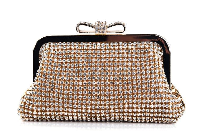 Handtasche der Glamor Frau stockfotos