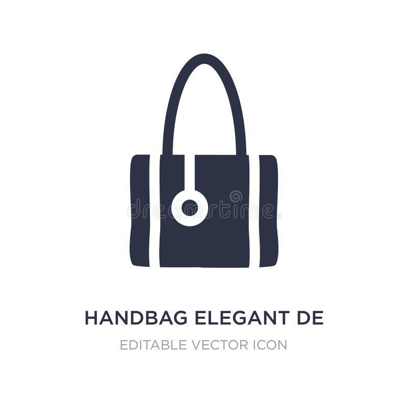 Handtasche elegantes de icon auf weißem Hintergrund Einfache Elementillustration vom Modekonzept vektor abbildung