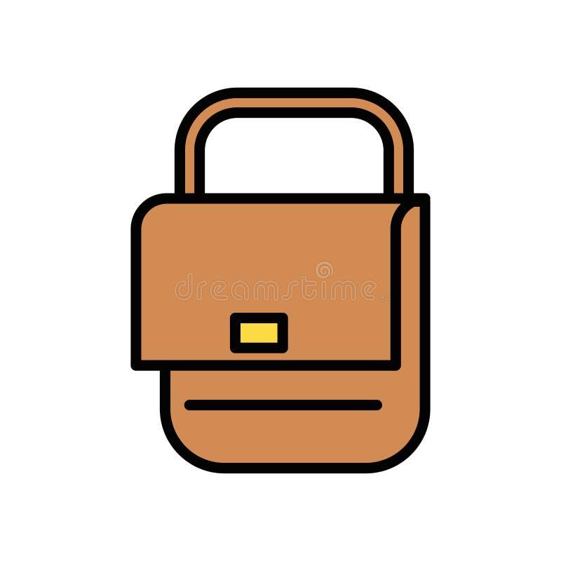 Handtasche für Postdienste isoliertes Symbol vektor abbildung