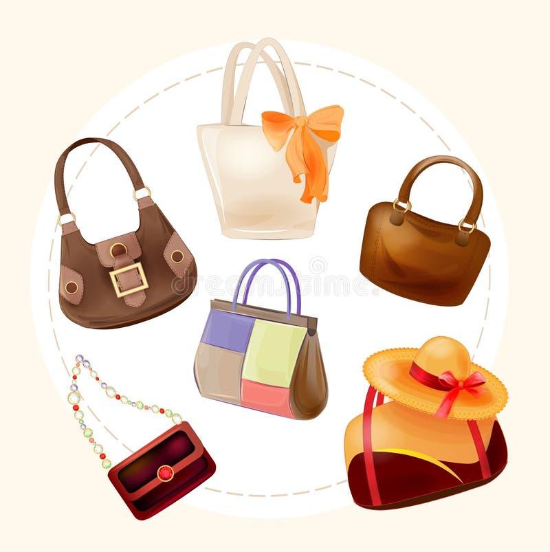 handtassen voor alle gelegenheden vector illustratie
