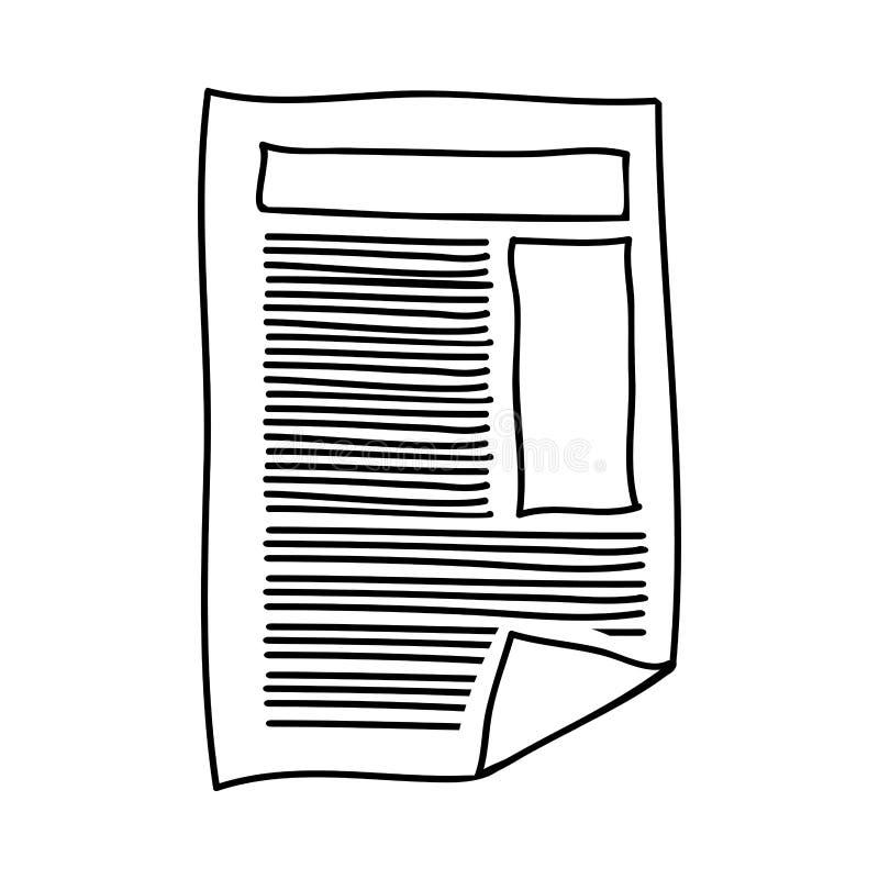 Handteckning av pappers- arktext och diagram royaltyfri illustrationer
