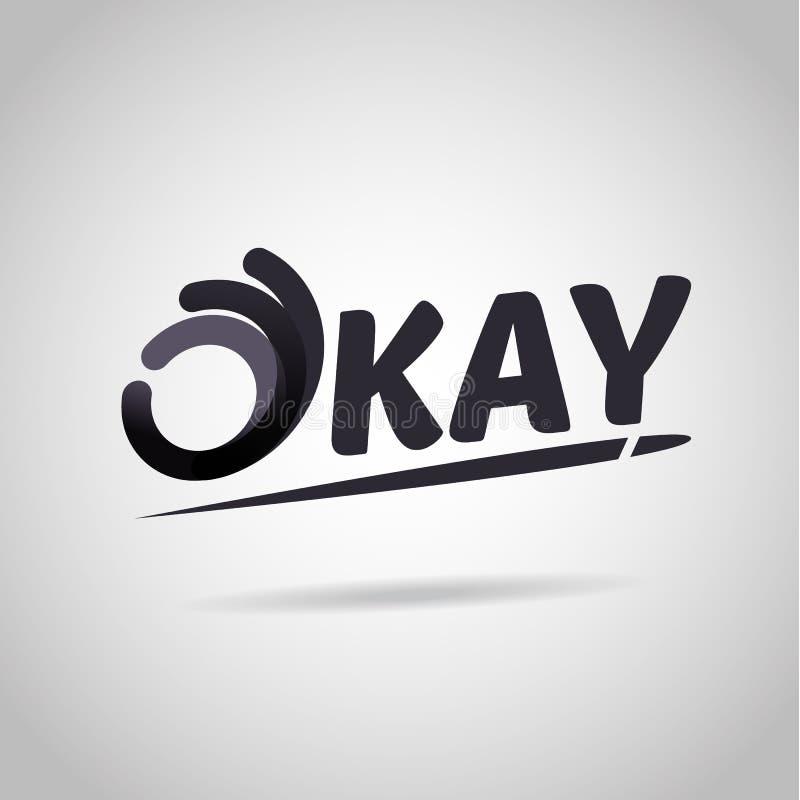 Handteken als O.k. symboolpictogram logotype De o.k. vector van het Embleemontwerp te vector illustratie