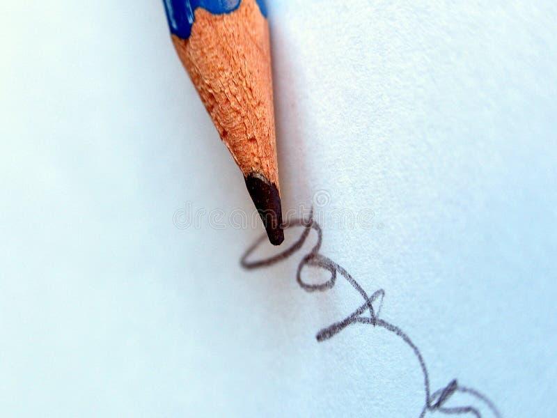 Download Handtekening stock afbeelding. Afbeelding bestaande uit blauw - 46429