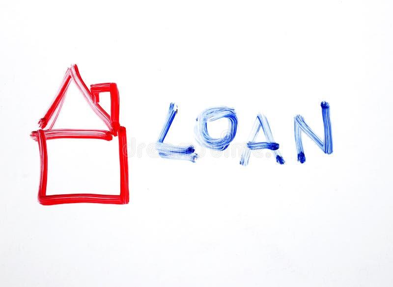 Handtekening - het financiële concept van de Huislening royalty-vrije stock fotografie