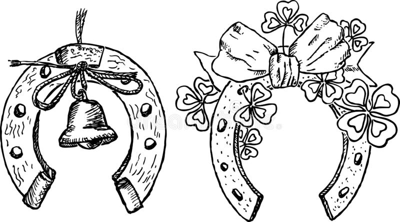 Handtekeningen van feestelijke hoeven vector illustratie