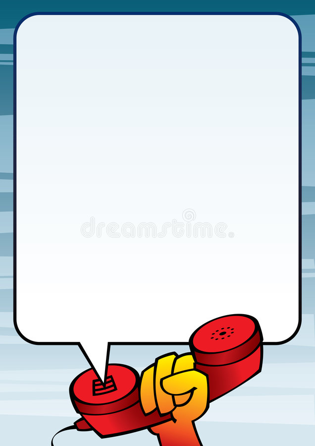 handtelefontextframe royaltyfri illustrationer