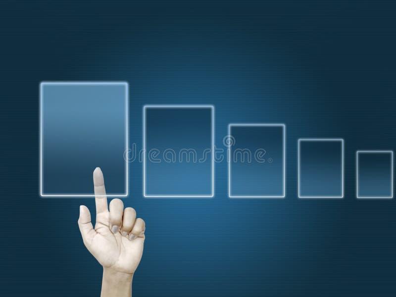 Handtouch Screen Schnittstelle lizenzfreies stockfoto