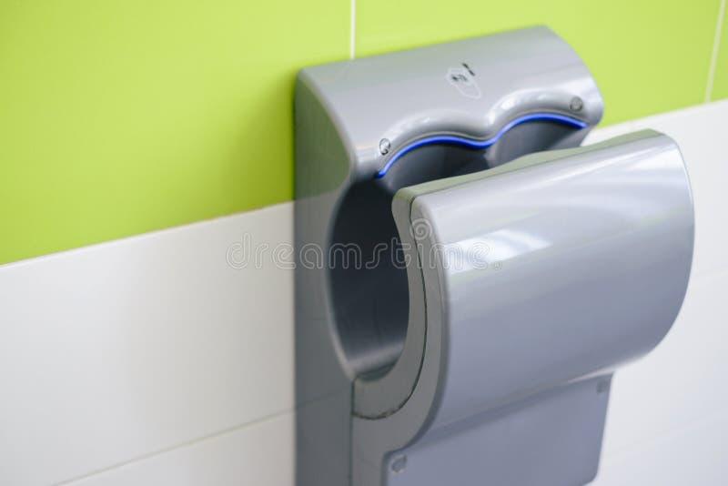 Handtrockner öffentlich WC, Nahaufnahme lizenzfreie stockfotos