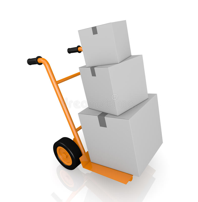 Handtruck Or Trolley Stock Photo