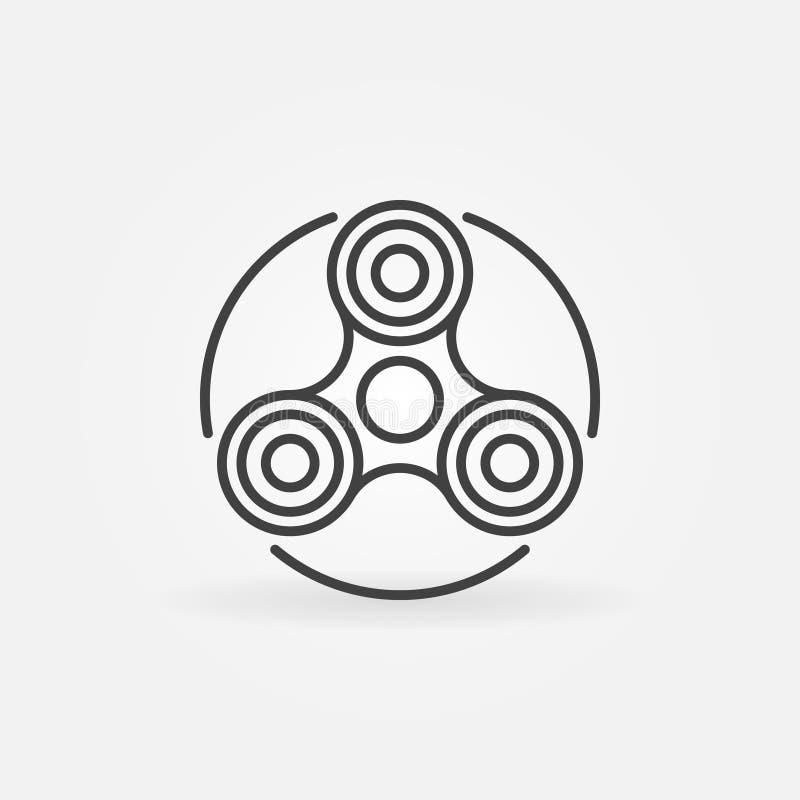 Handunruhe-Spinnerikone lizenzfreie abbildung