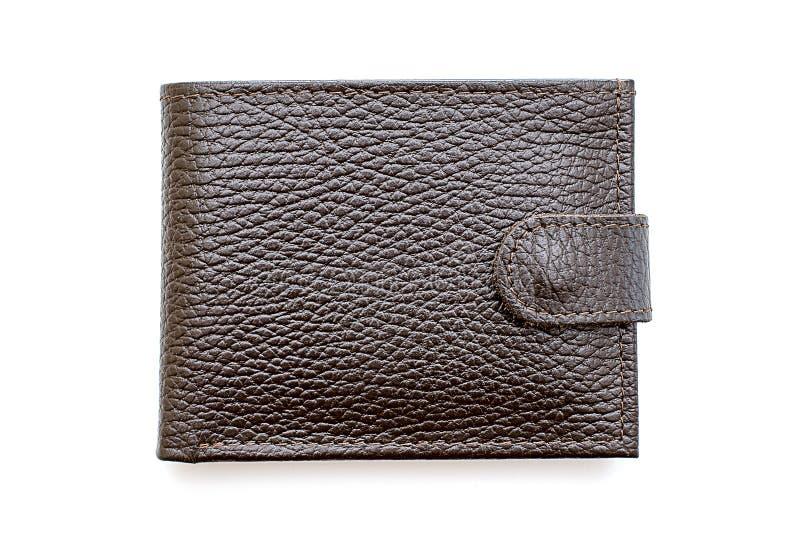 Handväska för manbruntläder i stängd form royaltyfri foto