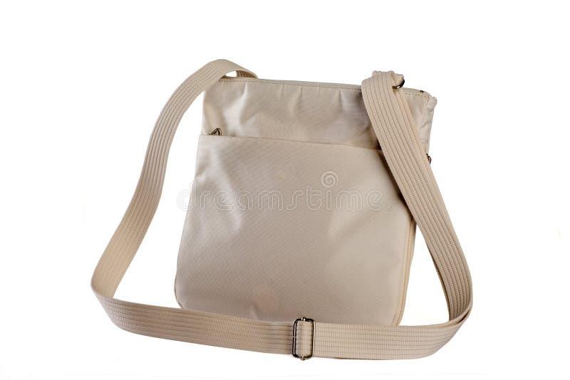 handväska isolerad white arkivbild