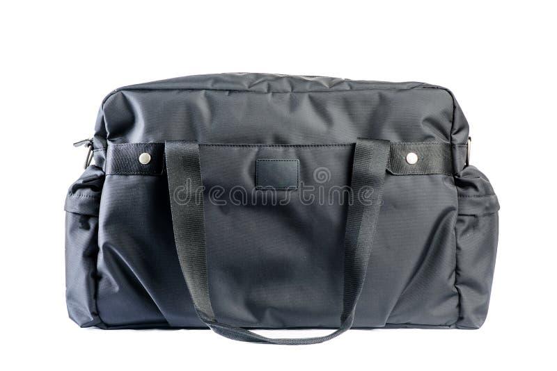 handväska isolerad white arkivfoto