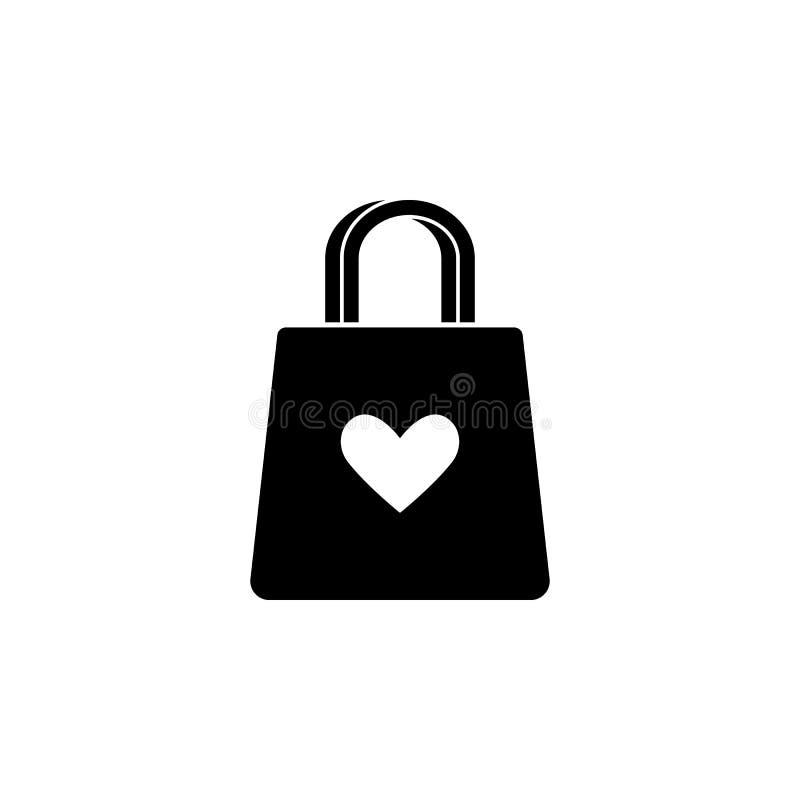 handväska med en hjärtasymbol Beståndsdel av morsa dagen för mobila begrepps- och rengöringsdukapps Den detaljerade handväskan me vektor illustrationer