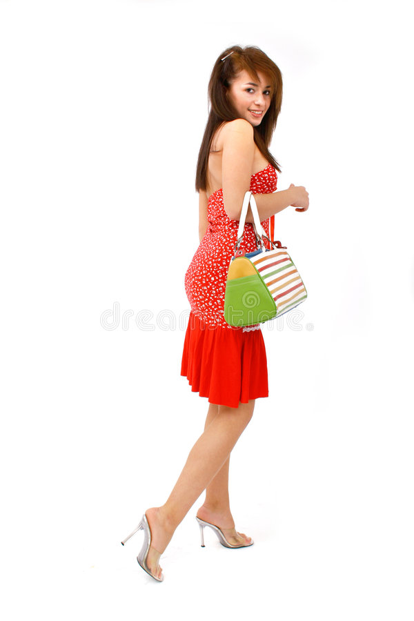 handväskakvinna arkivfoto