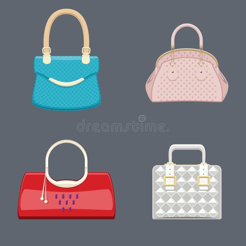 Handväskaskönhetsamling stock illustrationer