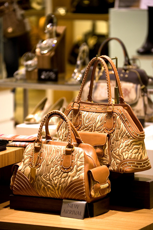 handväskaskon shoppar royaltyfri bild