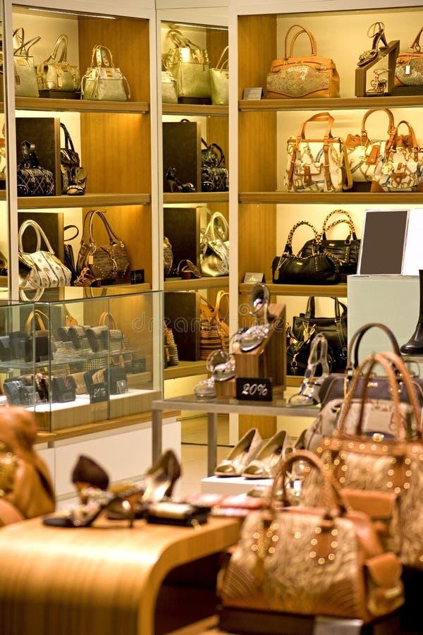 handväskaskon shoppar arkivbild