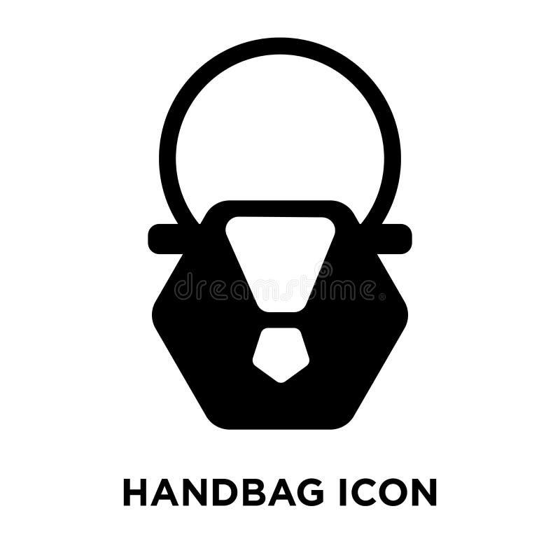 Handväskasymbolsvektor som isoleras på vit bakgrund, logobegreppsnolla stock illustrationer