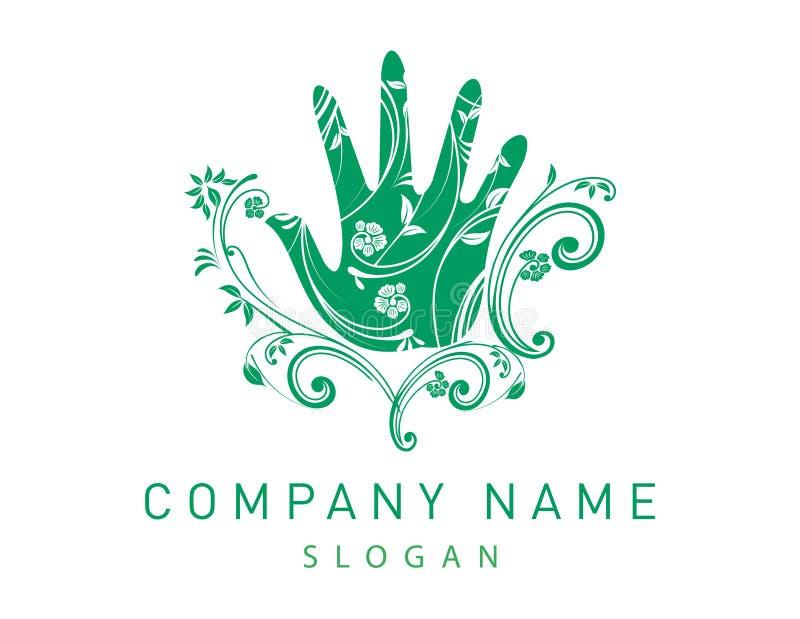 Handvector logotype royalty-vrije illustratie