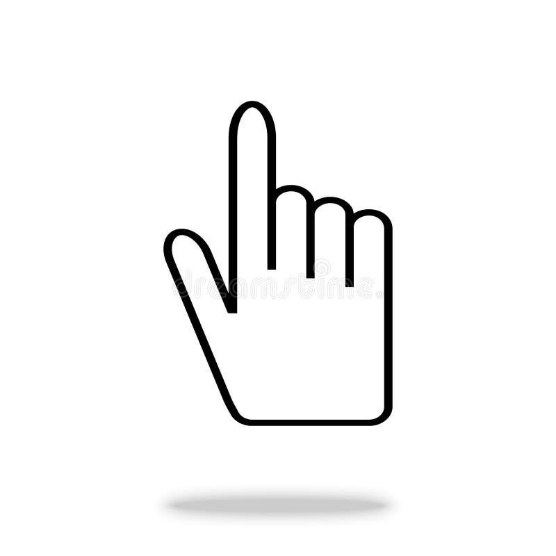 Handvektorikone Für Ihr Websitedesign Logo, APP, UI Auch im corel abgehobenen Betrag stock abbildung