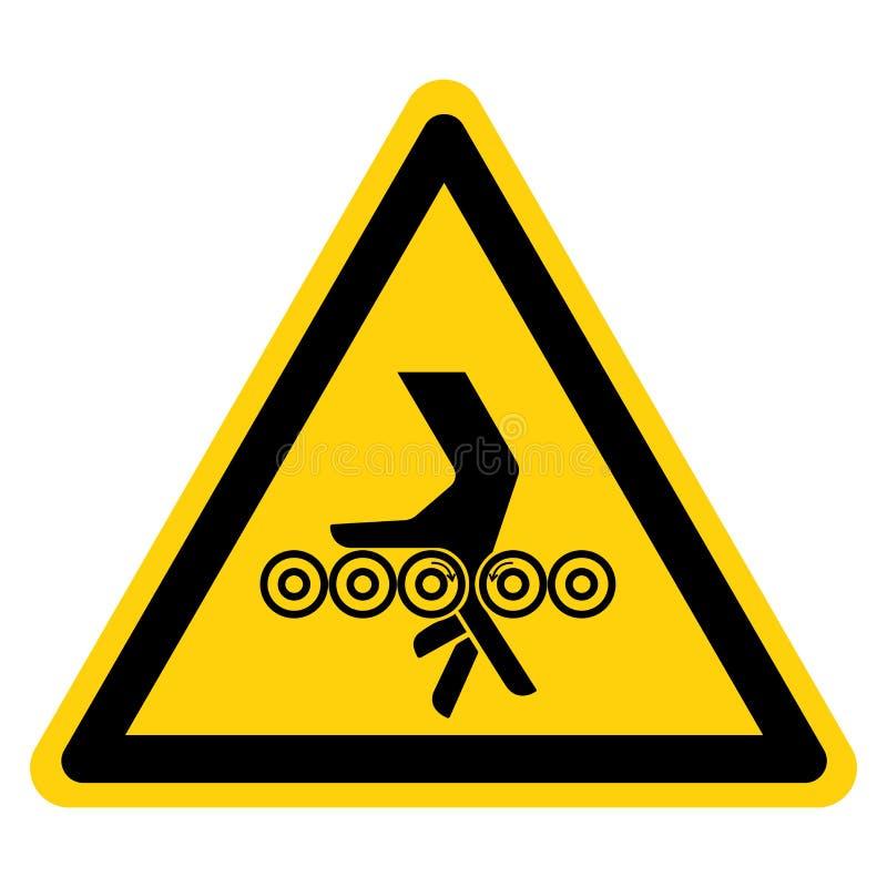 Handverwicklungs-Rollen-Symbol-Zeichen, Vektor-Illustration, Isolat auf wei?em Hintergrund-Aufkleber EPS10 stock abbildung