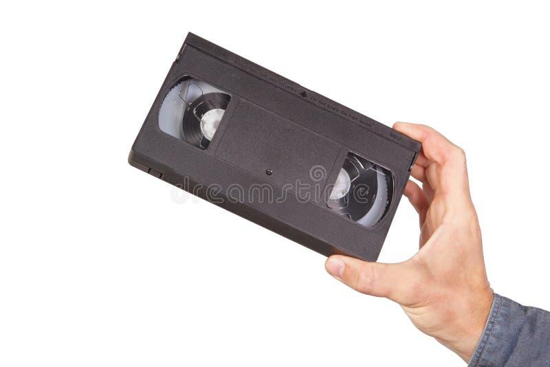 handvideocassettevideoband fotografering för bildbyråer