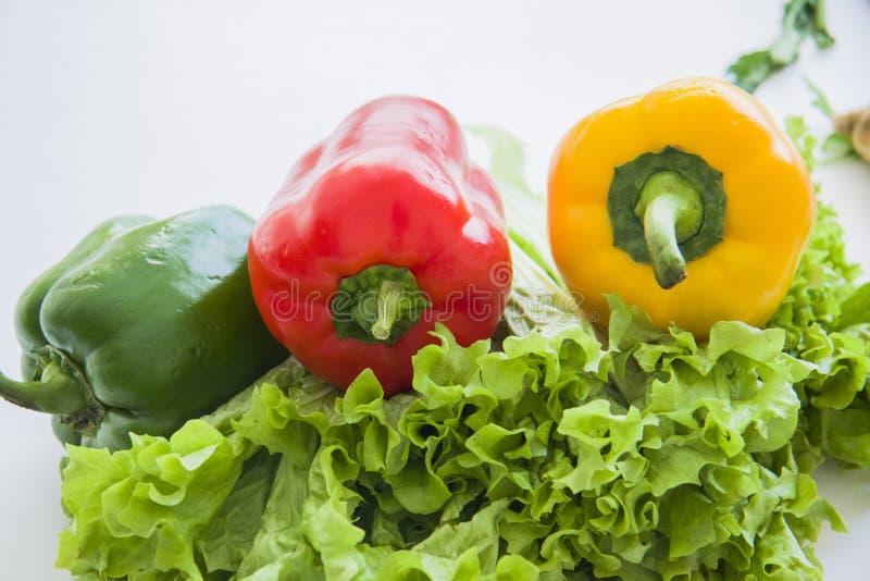 Handvol groenten royalty-vrije stock foto's