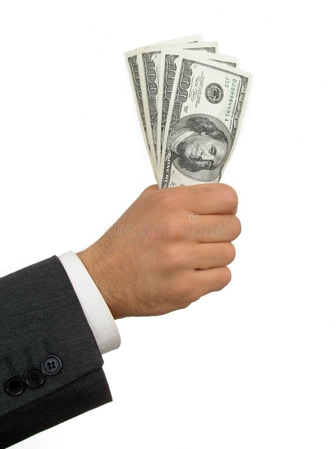 Handvoll Geld lizenzfreie stockfotografie