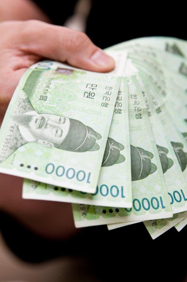 Handvoll Koreaner gewonnen stockfotografie