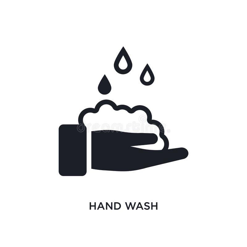 handwas geïsoleerd pictogram eenvoudige elementenillustratie van het schoonmaken van conceptenpictogrammen van het het embleemtek stock illustratie