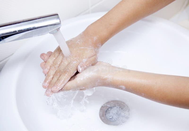 Handwashing fotografering för bildbyråer