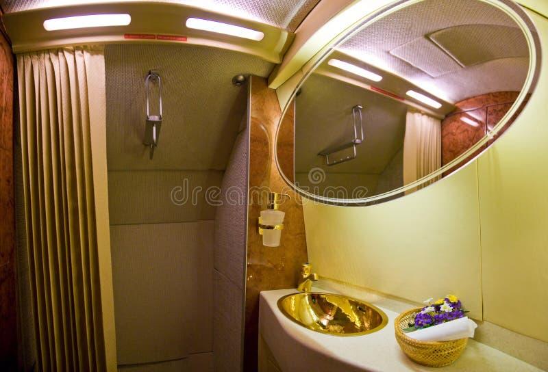 Handwashtapkraan en gootsteen met kranen of drukknop om water voor washand met zeep en afval in toilet uit te delen royalty-vrije stock foto's