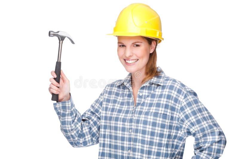 Handwerkerin stockfoto