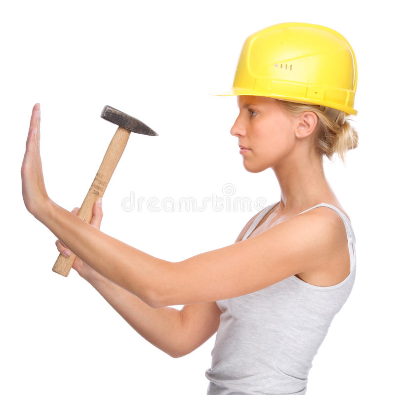 Handwerkerin lizenzfreies stockbild