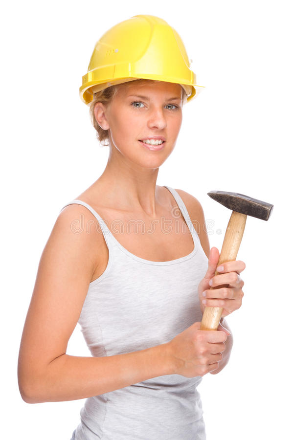 Handwerkerin stockfotos