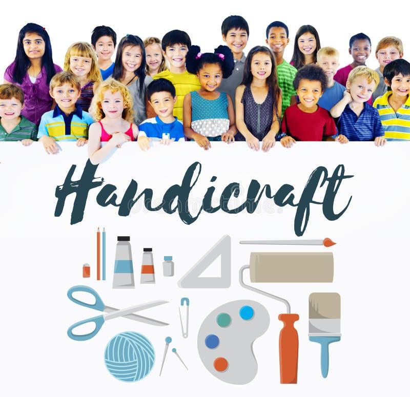 Handwerks-handgemachte Handarbeit Art Design Ideas Concept lizenzfreies stockbild