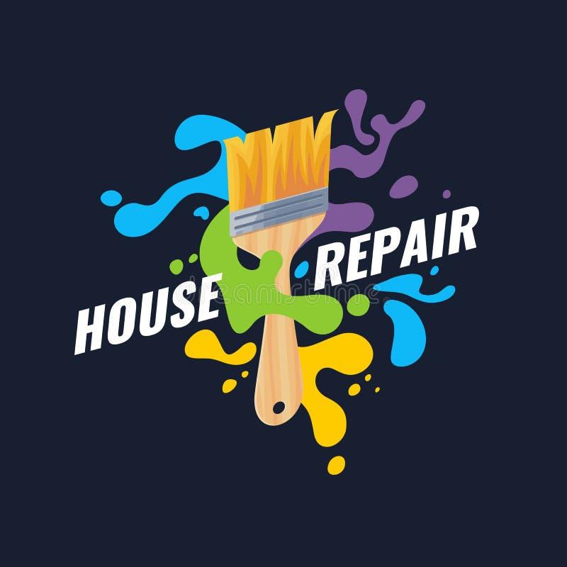 Handwerkzeug für Haupterneuerung und Bau Hausreparaturplakat stock abbildung