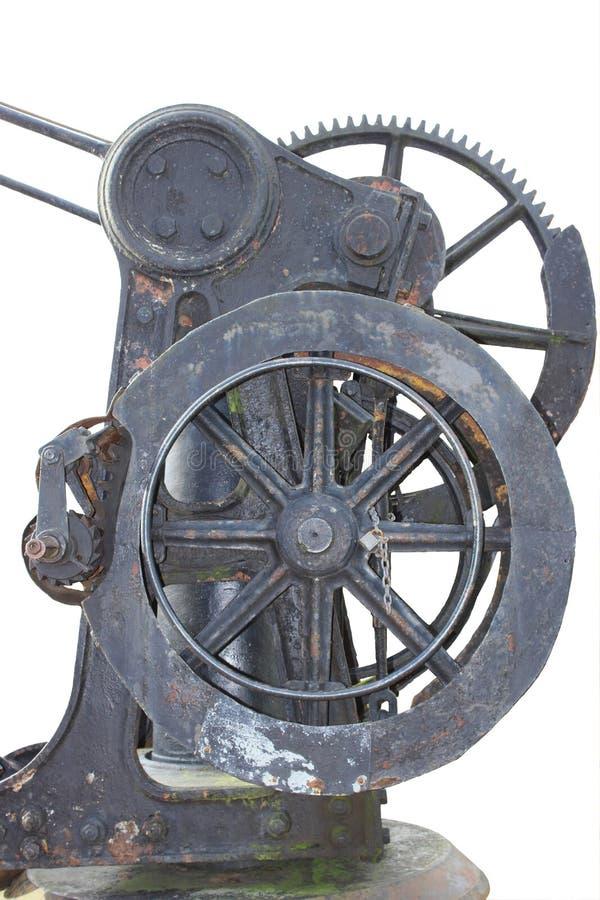 Handwheel χυτοσιδήρων με gearwheel στοκ εικόνες