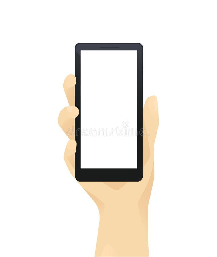 Handwitntelefon vektor illustrationer