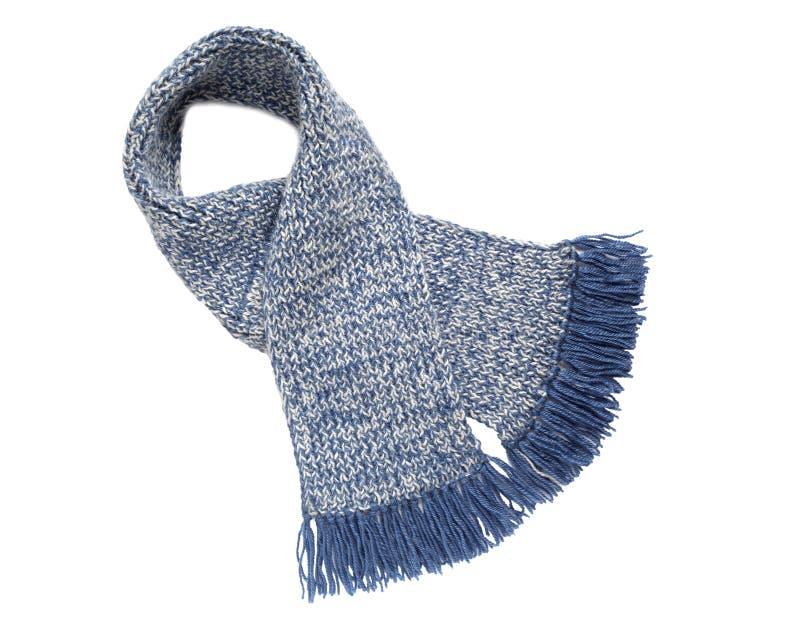 Handwork feito malha lenço Lenço de lã colorido imagem de stock