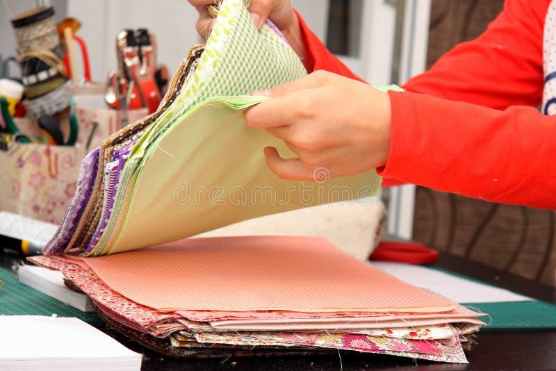 Handwork z tkaninami zdjęcia stock