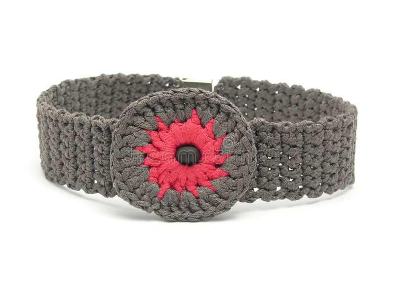 Handworked Crocheted Collar Royalty Free Stock Photo