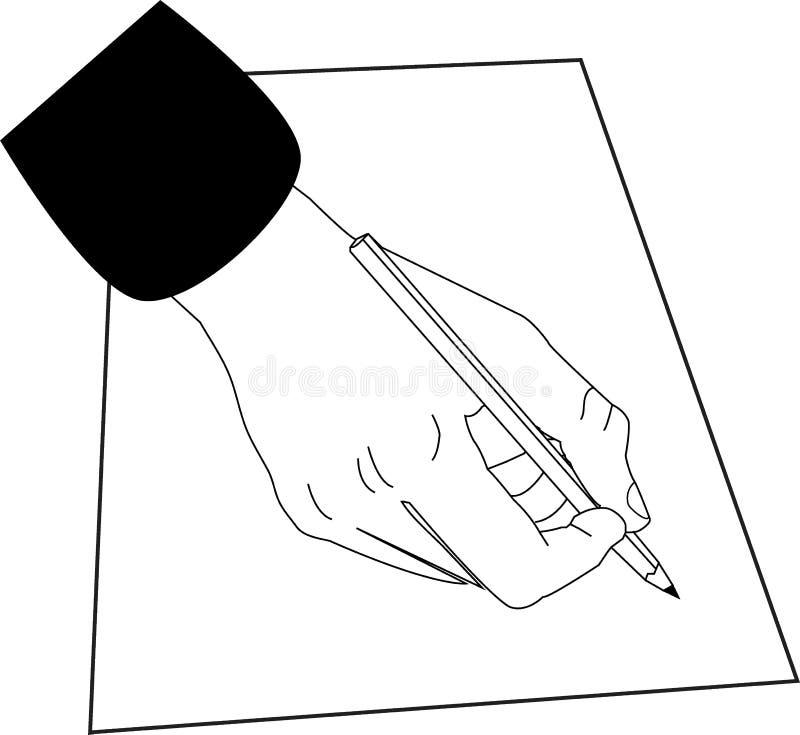 handwriting illustrazione di stock