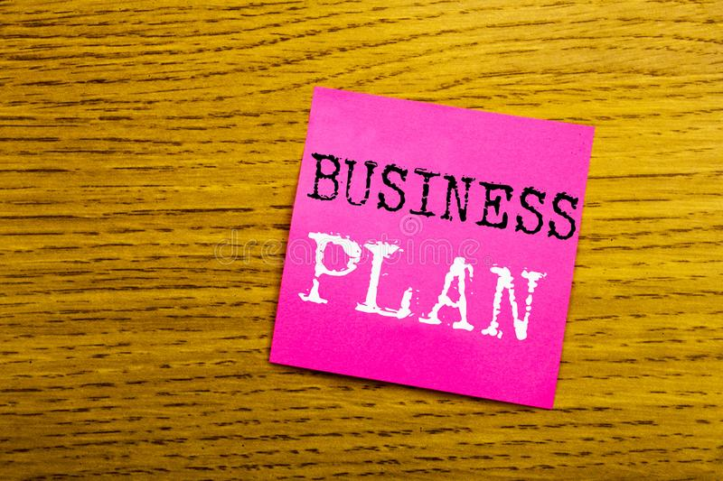 Handwriting Announcement text showing Business Plan Planning. Business concept for Preparation Project Strategy written on sticky. Note empty paper, background royalty free stock photo