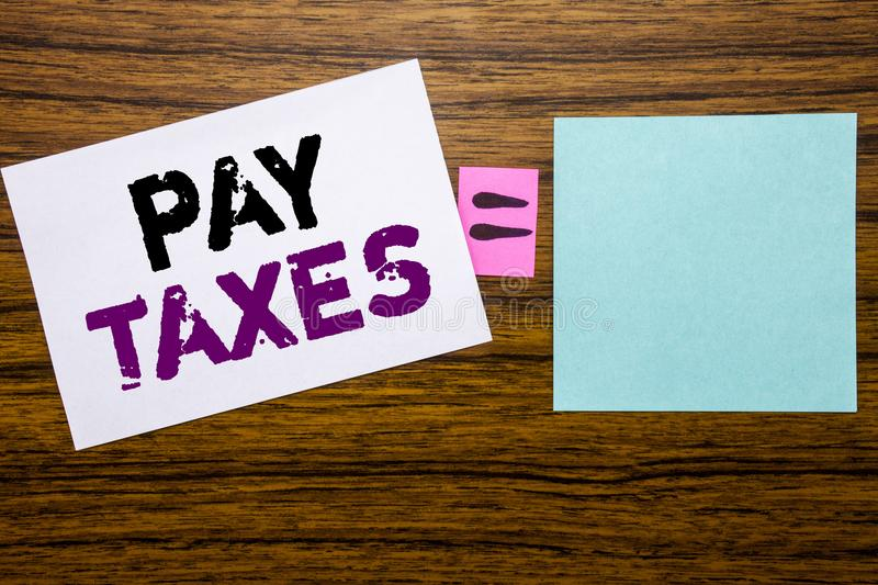 Essay on paying taxes