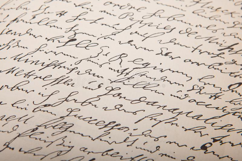 Old handwriting, vintage leter. Handwriting leters. Seamless background royalty free stock images