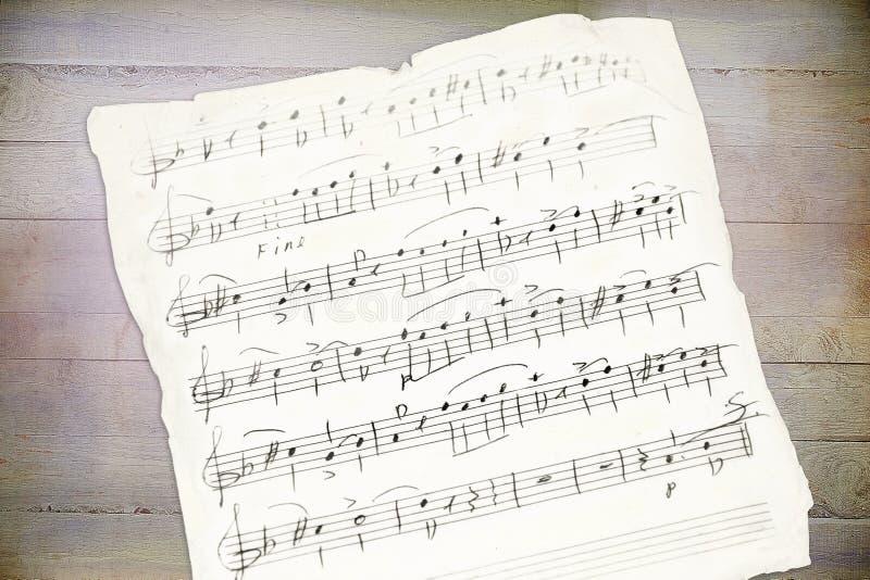 Handwriting music sheet royalty free stock photography