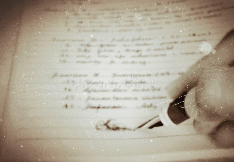 Handwriting. OzedfCO, handwriting, plume, stylo, image, lettre royalty free stock photos