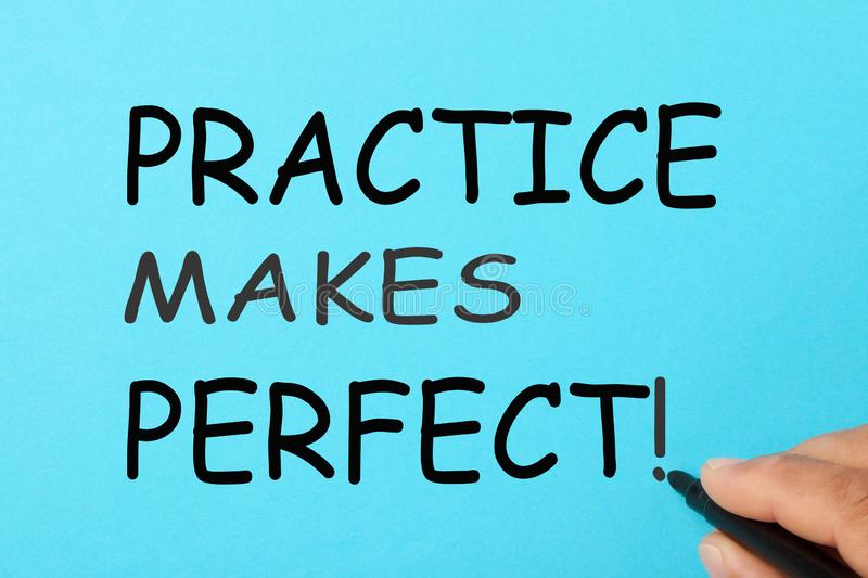 Practice Makes Perfect royalty free stock photography